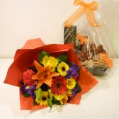 Gourmet Fruit and Flower Treat Tray