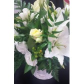 Whites and greens arrangement