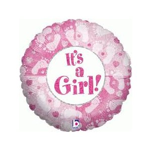 Hellium baby girl balloon